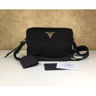PRADA 1BH089 NYLON CROSSBODY BAG
