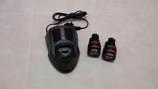BOSCH 充電器+2粒電池