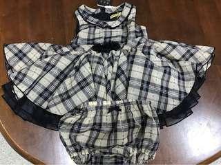 🚚 全新現貨英國Kinloch Anderson金安德森童裝春夏格子熊系列套裝女寶寶短袖套裝彌月禮盒75公分