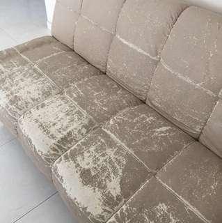Foldable old sofa
