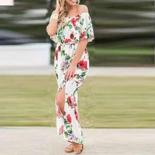 🔴Off shoulder Maxi dress