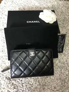 Chanel classic wallet black colour