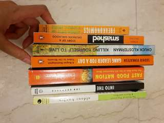 7 Books Pop Culture Sociology Freakonomics Gang Leader Fast Food Nation Into the Wild Aldous Huxley