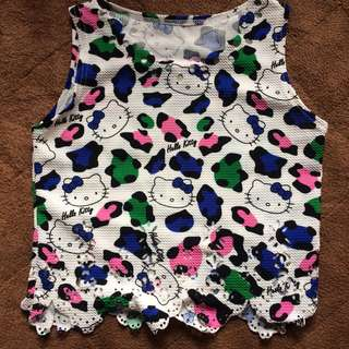 Hello Kitty semi crop-top
