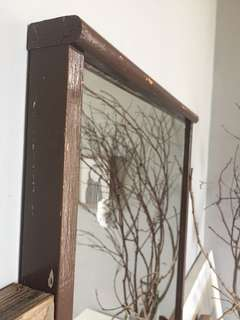 Vintage Solid Wood Mirror - for Rental