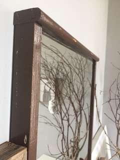 Vintage Solid Wood Mirror - for Rental