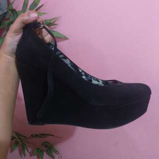 Wedge Shoes - BLACK