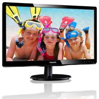"Philips 200V4Q 20"" LED Monitor (16:9, Full HD 1920x1080, VGA, DVI)"