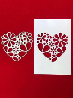 Heart #9 scrapbook Cutting die