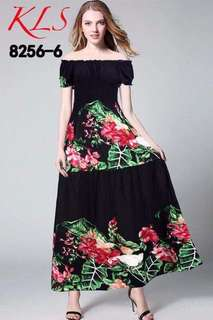 🌷U.s floral off shoulder dress  🌻Cotton  💐eight different floral design  🌷fit M to xL (One Size) 🎀Good Quality 💕