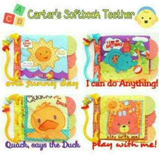 Carters cloth book teether
