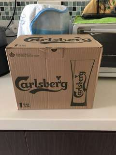 Carlsberg beer glass
