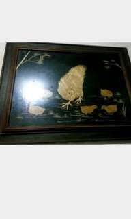 Lukisan Kristik Induk Ayam