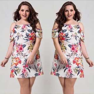 🌷U.s floral plus size dress  🌻Crepon  💐one color 🌷fit M to xL (One Size) 🎀Good Quality 💕