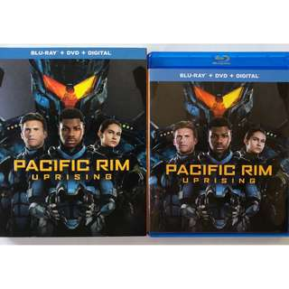 PACIFIC RIM UPRISING BLU RAY DVD 2 DISC SET + SLIPCOVER SLEEVE