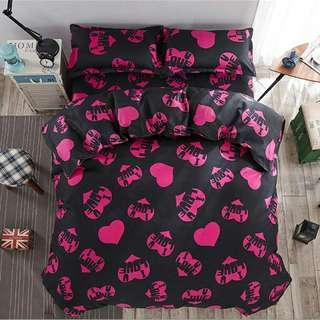 FREE POS Ready Stock Comforter Bedsheet Set 7 In 1