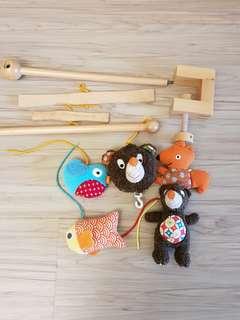 🚚 熊抱抱床邊懸吊玩具音樂盒