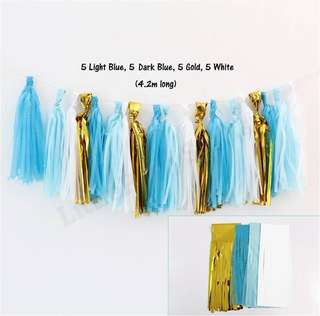 *SALES* DIY Paper Tassels (Blue)