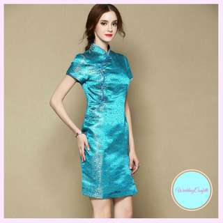 Mandarin Collar Cheongsam Dress