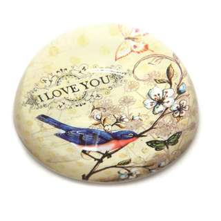 Birds Paper Weight Glass Dome