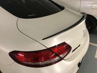 Mercedes C Coupe 2017 C205 boot lip