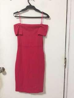 Zara Pink Off Shoulder Dress