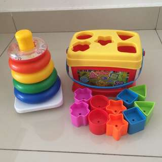Fisher Price Shape sorter and rainbow stacker