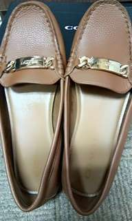 Reprice Coach olive pebble graun leather saddle
