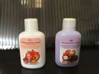 Organic natural mini size lotions 20 pesos each
