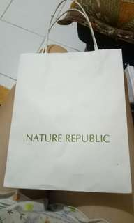 Nature republic paper bag