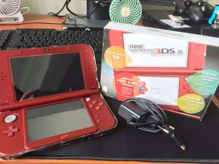 (Local, Non-Modded) Nintendo 3DS XL New Red