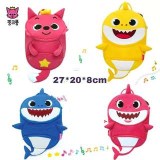 [Juniorcloset Preorder] 🆕 Pinkfong backpack Baby shark with anti lost strap