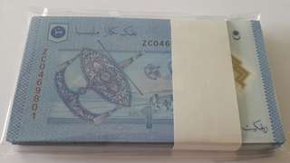 RM1 Zeti Replacement Note ZC Gem New UNC