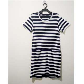 Blue and white striped dress for Small Size