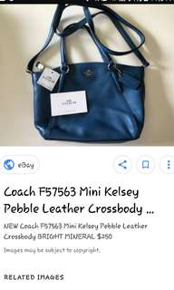 Coach kelsey mini bag authentic