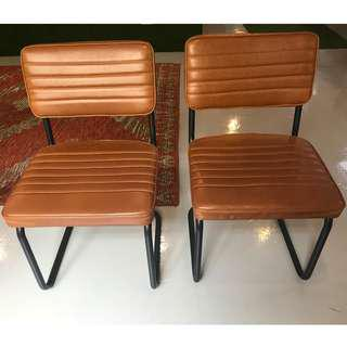 Retro tan chairs - 10 in total