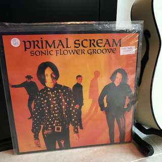 Records Vinyl - Primal Scream - Sonic Flower Groove! Rare LP