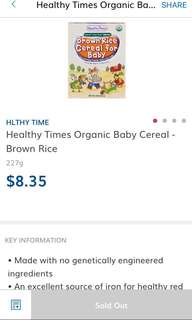 Healthy Times Brown Rice Cereal