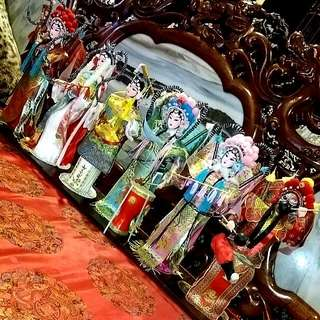9 pcs Chinese Opera Beijing Tang Ren Fang culture Dolls Collection
