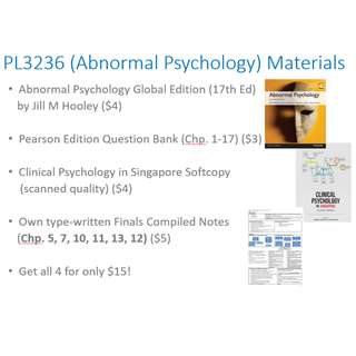 🚚 PL3236 Abnormal Psychology Study Materials