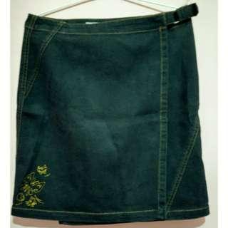 Disney Black Denim Skirt