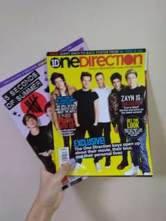 5SOS AND ONE DIRECTION MAGAZINES