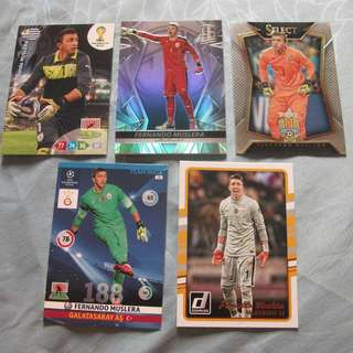 Fernando Muslera Panini trading cards for sale/trade (Lot of 5 cards)