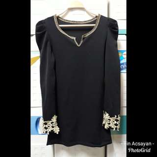 Formal top with gold details