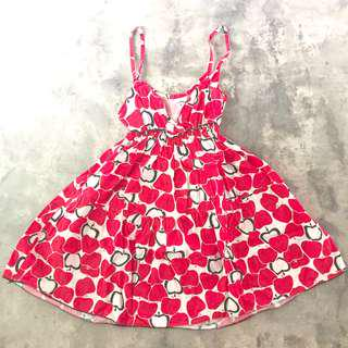 🚚 Red Apple Sundress
