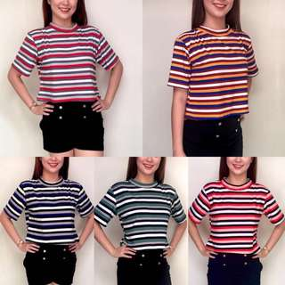 Korean Stripe Oversized Tees
