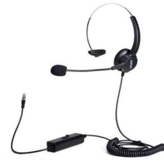 AGPtek Hands-free Call Center Monaural Headset RJ9 Telephone