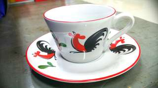 Cangkir ayam jago ( tea set )