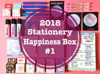 🚚 ⭐️ 2018 Stationery / Bullet Journal Supplies Happiness Box #1 ⭐️