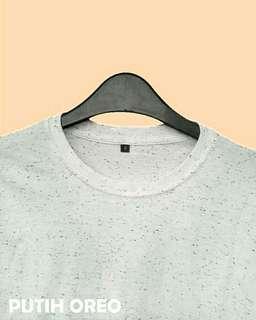 Tshirt Polos Putih Oreo Polka